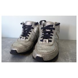 Chanel-sneakers-Argenté