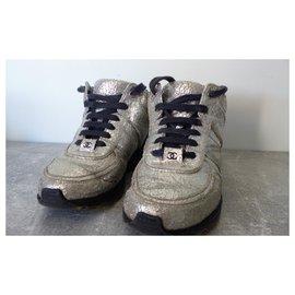 Chanel-Sneakers-Silvery