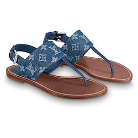 Louis Vuitton-Starboard flat sandals-Blue