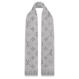Louis Vuitton-LV Logomania scarf-Grey