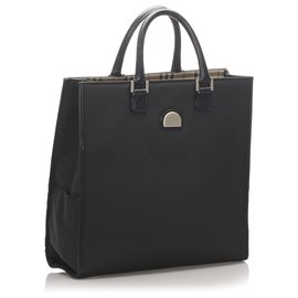 Burberry-Burberry Black Canvas Tote Bag-Black