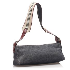 Burberry-Burberry Gray Denim Baguette-Other,Grey