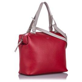 Céline-Cartable en cuir Celine rouge Small Cube souple-Blanc,Rouge
