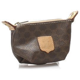 Céline-Celine Brown Macadam Coin Pouch-Brown