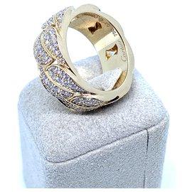 Cartier-Bague Cartier la Dona fabriquée en 18pavé en or jaune et diamants-Jaune