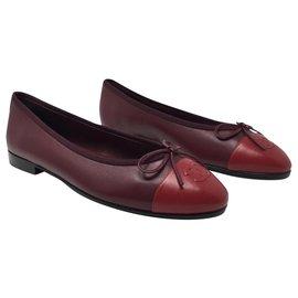 Chanel-BALLERINAS BALLERINE FLAT CHANEL BRAND NEW-Red