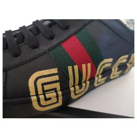 Gucci-Baskets New Ace-Noir