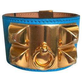 Hermès-Bracelet Collier de Chie Hermès-Bleu