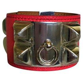 Hermès-Bracelet Collier de Chien Hermès-Rose