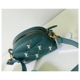 Chloé-Leather shoulder bag-Blue