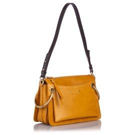 Chloé-Chloe Brown Medium Leather Roy Satchel-Brown