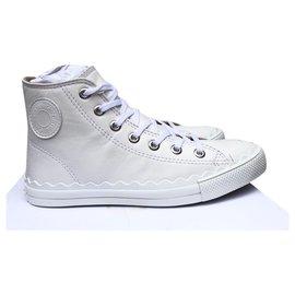 Chloé-Sneakers-Eggshell