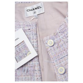 Chanel-nouveau tailleur jupe en tweed-Multicolore