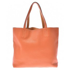 Hermès-Sac à main Hermès-Orange