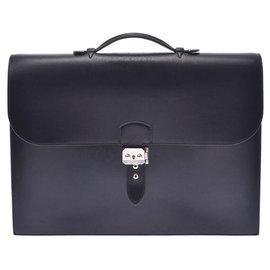 Hermès-Hermès Travel bag-Black