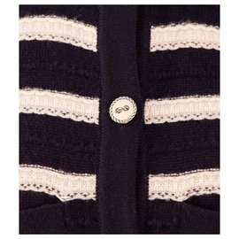 Chanel-cashmere striped dress-Multiple colors
