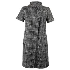 Chanel-tweed jacket dress-Grey