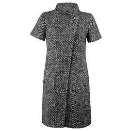 Chanel-robe veste en tweed-Gris