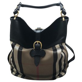Burberry-Hobo Bag-Black
