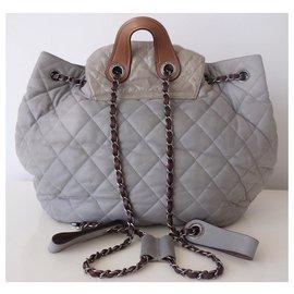 Chanel-CHANEL GM BACKPACK-Grey