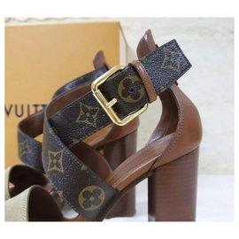Louis Vuitton-NWB Louis Vuitton Monogram Sandals  Heels Sz. 39-Multiple colors