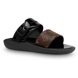 Louis Vuitton-LV Sunbath flat mules-Black