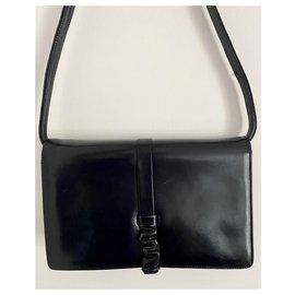 Céline-Vintage Céline Trio calf leather Clutch Handbag-Blue