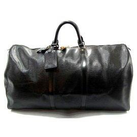 Louis Vuitton-keepall 60 Cuir épi noir-Black