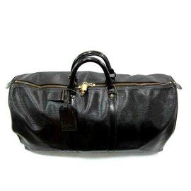 Louis Vuitton-keepall 60 Cuir épi noir-Schwarz