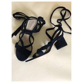 Gianvito Rossi-Sandals-Navy blue