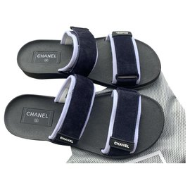 Chanel-Mules-Navy blue