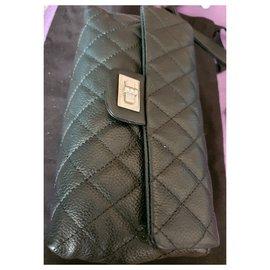 Chanel-Chanel banana chanel pouch / mini bag-Black,Metallic