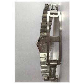 Chopard-Chopard 18K White Gold Diamond Bezel  Ladies Watch-Silvery