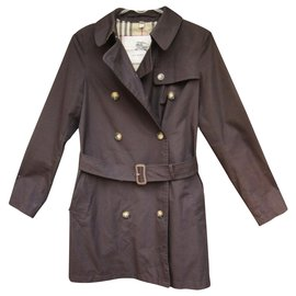Burberry-trench femme Burberry London t 34-Marron foncé
