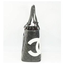 Chanel-Cambon line Sac cabas pour femmes A25169 noir x blanc-Autre