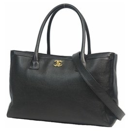 Chanel-executive 2WAY shoulder Womens tote bag black x gold hardware-Other