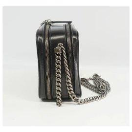 Chanel-BOY  stitch chain shoulder bag A67085 black x vintage silver hardware-Other