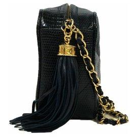 Chanel-vintage Camera case shoulder bag Navy-Navy blue