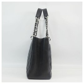 Chanel-matelasse GST chain tote bag Womens tote bag A50995 black x silver hardware-Other