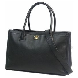 Chanel-Executive tote Womens tote bag black x gold hardware-Other