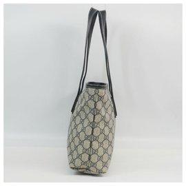 Gucci-Sac à bandoulière GG plus épaule pour femme 211138 beige x marine-Autre