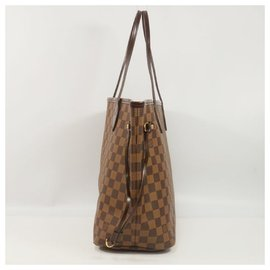 Louis Vuitton-NeverfullMM Womens tote bag N41358 damier ebene-Other