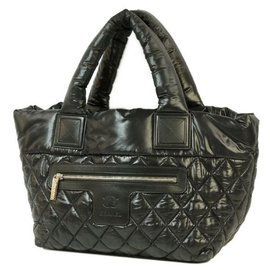 Chanel-COCO Cocoon totePM Womens tote bag A48610 black x silver hardware-Other