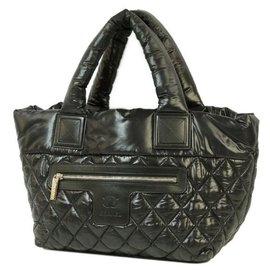 Chanel-COCO Cocoon totePM Sac cabas pour femmes A48610 matériel noir x argent-Autre