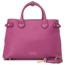 Burberry-Burberry Pink Medium Leather Banner Satchel-Pink