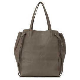 Céline-Celine Brown Phantom Cabas Leather Tote Bag-Brown