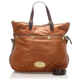 Mulberry-Mulberry Brown Mitzy Leather Satchel-Brown,Black