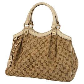 Gucci-Sukey handbag Womens handbag 211944 beige x gray-Other