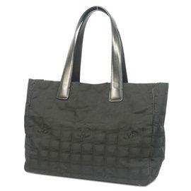Chanel-New Travel Line toteMM tote bag A15991 black-Black