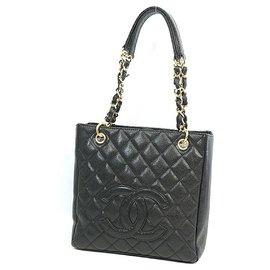 Chanel-PST chain tote bag Sac à bandoulière pour femme A20994 matériel noir x or-Autre